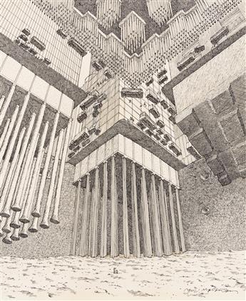 "DAVID MACAULAY (1946- ) ""Building Foundations."" [ARCHITECTURE / DESIGN / ENGINEERING]"