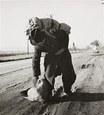 DOROTHEA LANGE (1895-1965) Bindle-stiff, Napa Valley, CA.
