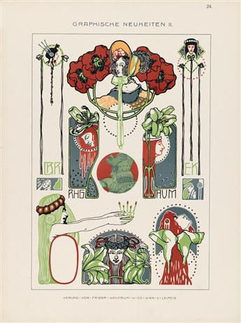(DESIGN / GRAPHIC DESIGN.) Wolfrum, Friedrich; publisher. Graphische Neuheiten Series II.