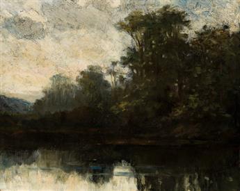 EDWARD M. BANNISTER (1828 - 1905) Untitled (River Landscape).