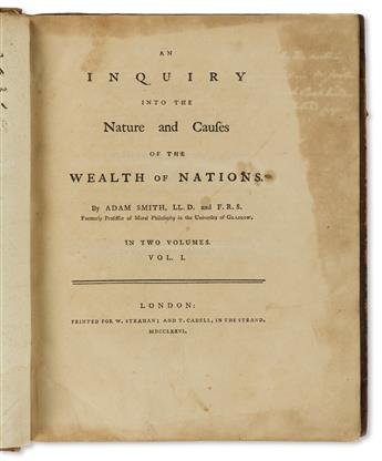 Smith, Adam (1723-1790) An Inquiry into the Nature and Causes of the Wealth of Nations.