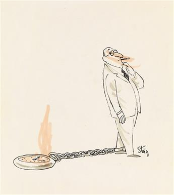 (CARTOON)--WILLIAM-STEIG-Group-of-12-unpublished-drawings