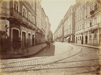 (BRAZIL) W. G. Gaensly (1843-1928); G. Leuzinger (1813-1892 Folio entitled Ansichten von Amazonenstrom, with 45 photographs by Leuzinge