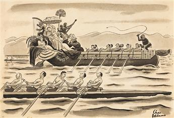 CHARLES ADDAMS (1912-1988) I imagine its the University of Southern California. [NEW YORKER / CARTOONS]