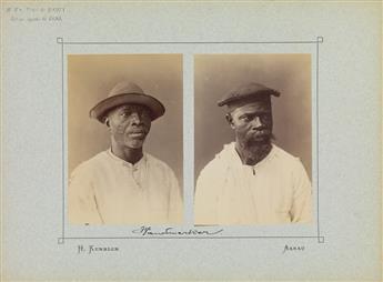 (BRAZIL) Marc Ferrez (1843-1923); Wm. Gaensly (1843-1928) Folio entitled Ansichten von Bahia, with 32 photographs, including 4 diptych