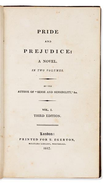 AUSTEN, JANE. Pride and Prejudice: A Novel. In Two Volumes.