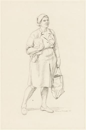 KATHERINE SHUBERT-KUNIYOSHI SCHMIDT (1899-1978) Two drawings of women.