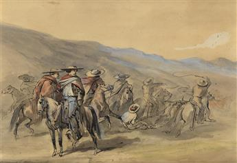 VICTOR-PIERSON-Group-of-10-Mexican-Cowboy-and-Horse-Riding-S