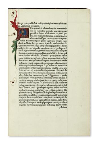 INCUNABULA--EUSEBIUS-of-Caesarea-Historia-ecclesiastica--147