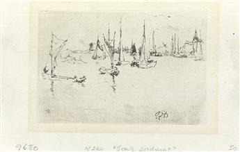 JAMES A. M. WHISTLER Group of 6 prints.