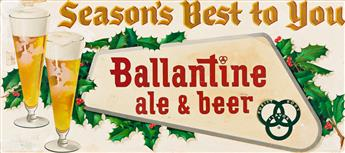 JOHN C. DAMRON (1903-1989) Seasons Best to You / Ballantine ale & beer. [ADVERTISING / BEER / CHRISTMAS]