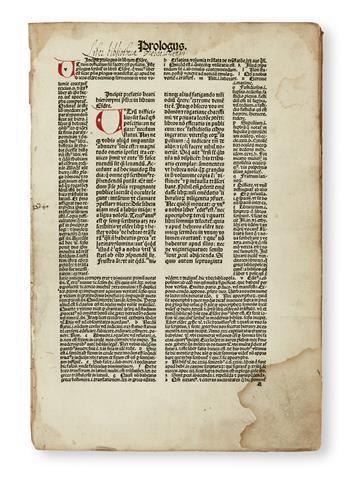 INCUNABULA--BIBLE-IN-LATIN---[Biblia-cum-Postillis-Nicolai-d