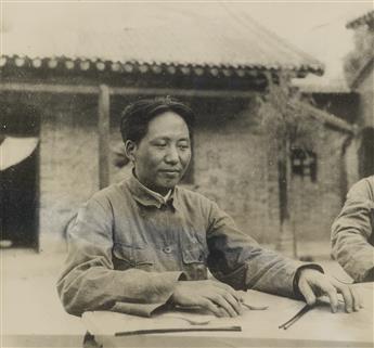 (CHINA)-Binder-with-10-rare-photographs-of-the-big-three-of-