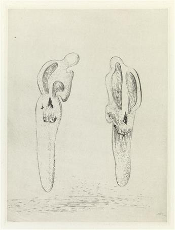 SALVADOR DALÍ Two etchings from Les Chants de Maldoror.