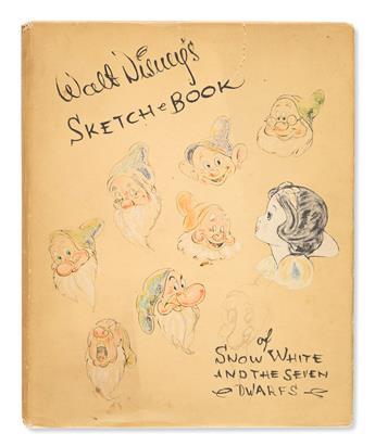 (CHILDREN'S LITERATURE.) Disney Studios, Walt. Sketch Book [of Snow White and the Seven Dwarfs].