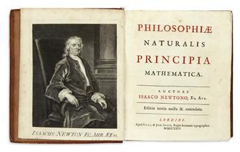 NEWTON, ISAAC, Sir.  Philosophiae naturalis principia mathematica . . . Editio tertia aucta & emendata.  1726