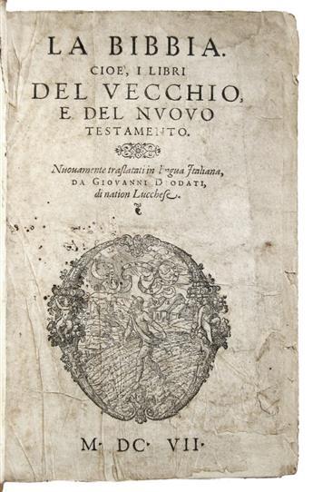 BIBLE-IN-ITALIAN--La-Bibbia;-cioe-I-Libri-del-Vecchio-e-del-