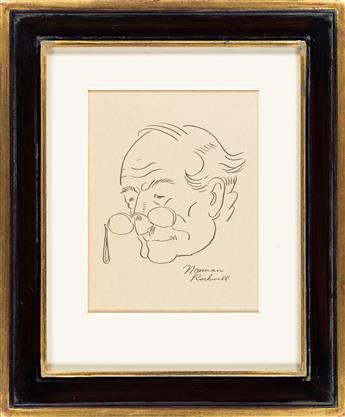 NORMAN ROCKWELL (1894-1978) Portrait of Whitney Darrow, Jr. as an old man.