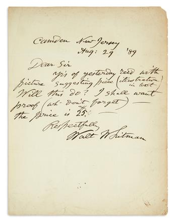 WHITMAN-WALT-Autograph-Letter-Signed-to-the-Editor-of-Harpers-New-Monthly-Magazine-(Dear-Sir)