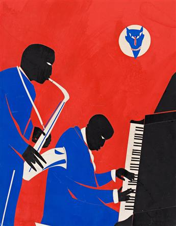 ROMARE BEARDEN (1911 - 1988) The Last of the Blue Devils.