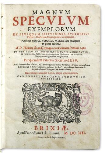 EXEMPLA.  Magnum speculum exemplorum.  1604