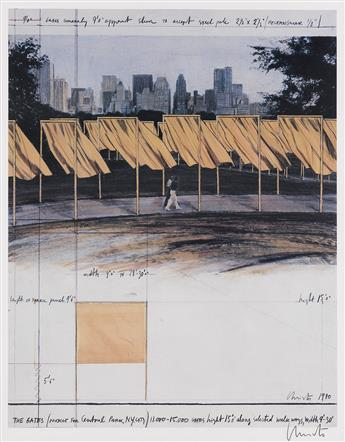 CHRISTO-(1935--)--JEANNE-CLAUDE-(1935-2009)-[CHRISTO]-Group-of-3-posters-Circa-1980s-Sizes-vary
