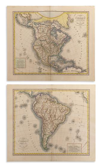 (AMERICAS.) Herrison, Eustache. Carte de l'Ameriqu