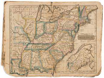 (GEOGRAPHY.) Woodbridge, William C.; [and Emma Willard]. Rudiments of Geography... Accompanied with an Atlas.