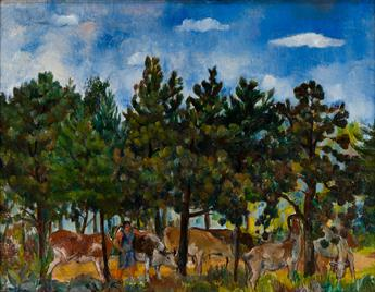BERNARD-KARFIOL-Landscape-with-Marie-and-Cows