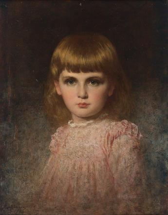 EASTMAN JOHNSON Portrait of May Valentina Stern Harlow (Narcissa).