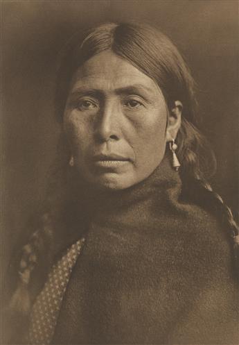 EDWARD S. CURTIS (1868-1952) The Rush Gatherer, Kutenai.