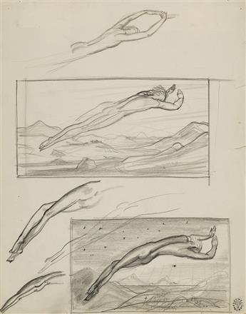 ROCKWELL-KENT-Studies-of-a-Diver