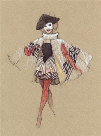 MARTIN PAKLEDINAZ (1953-2012) Harlequin * Zerlina. [COSTUME / THEATER]