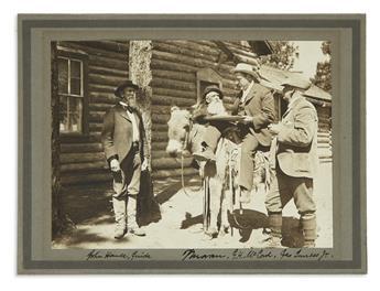 (WEST)-Pair-of-photographs-of-Thomas-Moran-at-the-Grand-Cany
