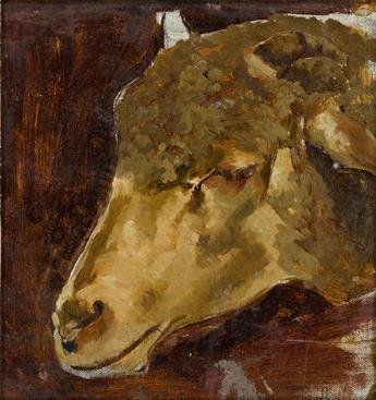 HENRY OSSAWA TANNER (1859 - 1937) Head of a Sheep.