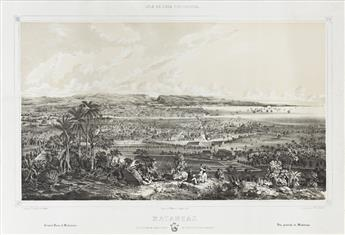 (CUBA.) Laplante, Eduardo; after Leonardo Barañano. Group of 7 large-format tinted lithographed plates from Isla de Cuba Pintoresca.