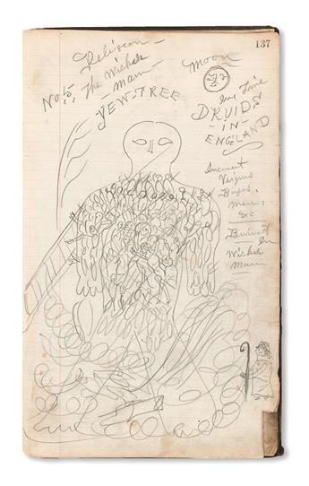 (ART.) Sketchbook of eccentric outsider and occult art kept by a working-class New Hampshire teen.
