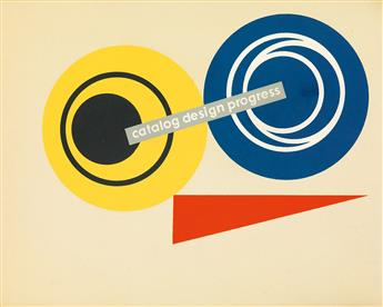 LADISLAV SUTNAR (1897-1976).  CATALOGUE DESIGN PROCESS. Book and ephemera. 1950. Book is 9½x12½ inches, 24¼x31¾ cm.