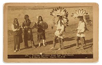 (AMERICAN INDIANS--PHOTOGRAPHS.) Group of 9 mostly larger-format mounted images.