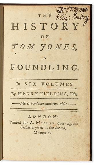 FIELDING, HENRY.  The History of Tom Jones.  6 vols.  1749