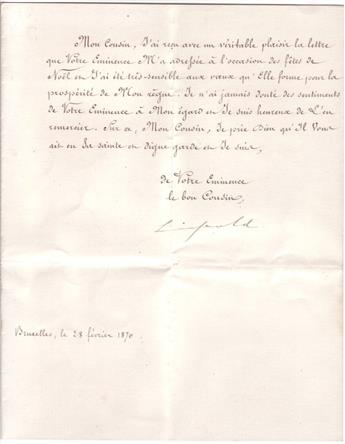 LEOPOLD-II;-KING-OF-THE-BELGIANS-Two-items-each-Signed-Leopo