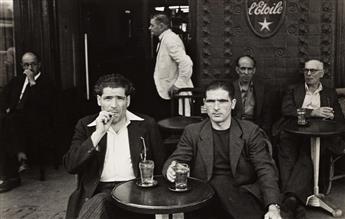 RUDY BURCKHARDT (1914-1999) Two men at Café L'Etoile, Paris.