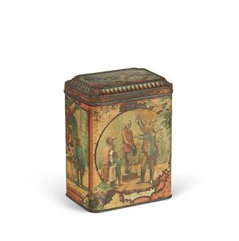 (SLAVERY-AND-ABOLITION)-Scottish-biscuit-tin-decorated-with-