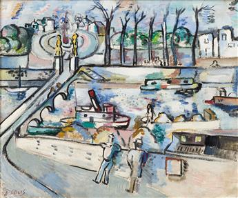 LOUIS SCHANKER View of the Seine, Paris.