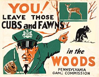 VARIOUS ARTISTS Pennsylvania Game Commission. Three posters.