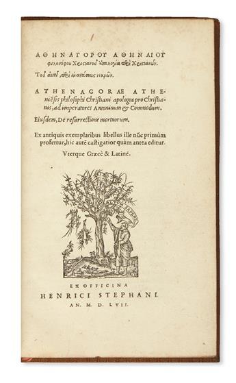 ATHENAGORAS-Apologia-pro-Christianis----Eiusdem-De-resurrect