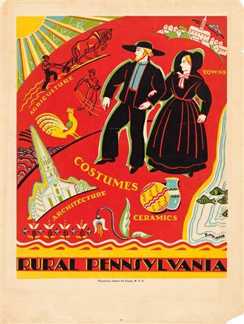 KATHERINE MILHOUS (1894-1977) Pennsylvania. Two posters.