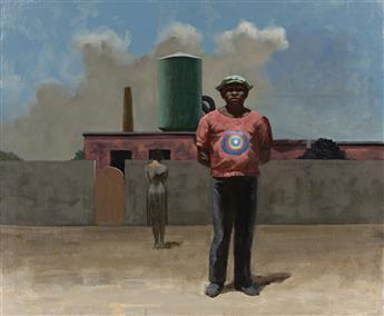 HUGHIE LEE-SMITH (1915 - 1999) Untitled (Man with Target on Shirt).