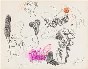 IRENE RICE PEREIRA (1902 - 1971, AMERICAN) Untitled, (Pair).