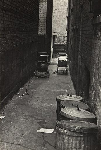 TOSH MATSUMOTO (1920-2010) Alley with carriages.